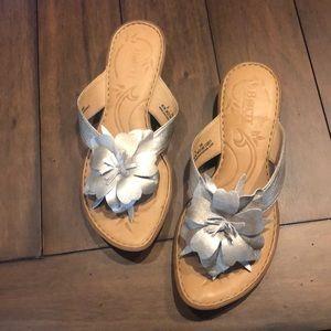 BORN silver sandals